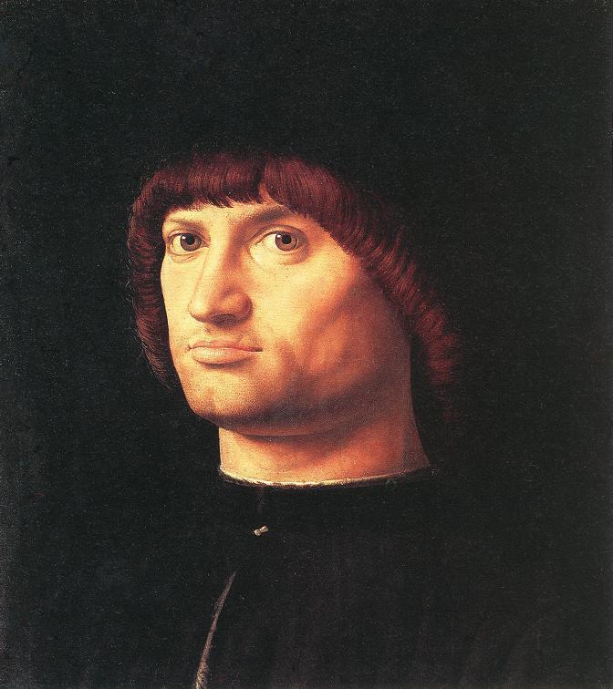 Portrait of a Man (The Condottiero) - Antonello da Messina