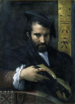 Portrait of a Man with a Book - Parmigianino