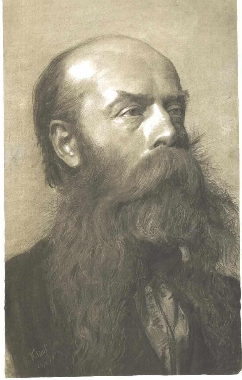 Portrait of a man with beard in three quarter profil - Gustav Klimt