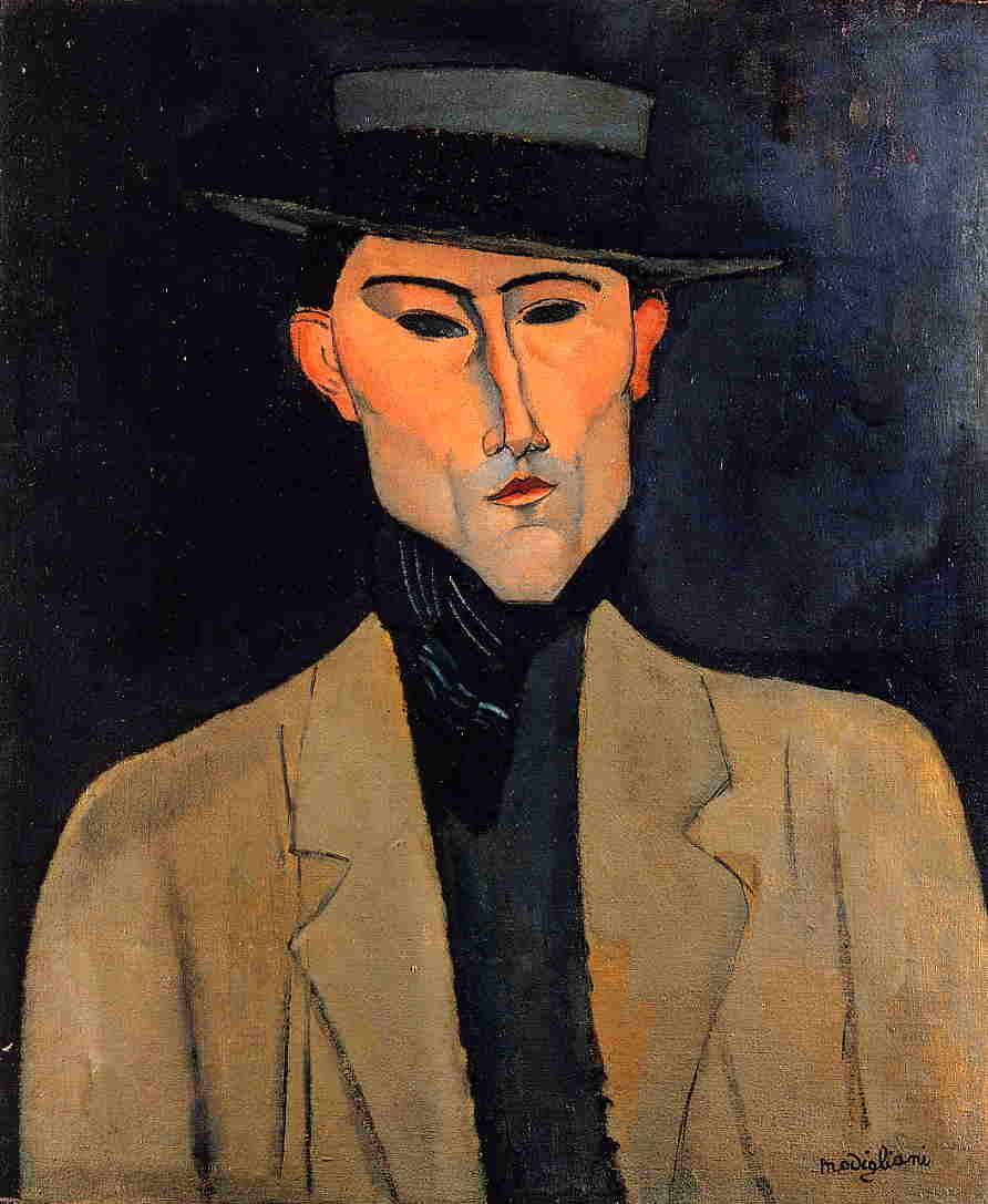 Portrait of a Man with Hat (Jose Pacheco ) - Amedeo Modigliani