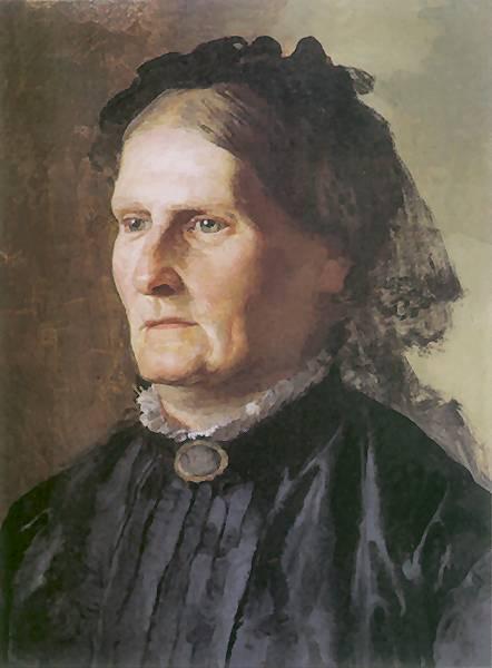 Portrait of a mother of Henry Siemiradzki - Henryk Siemiradzki