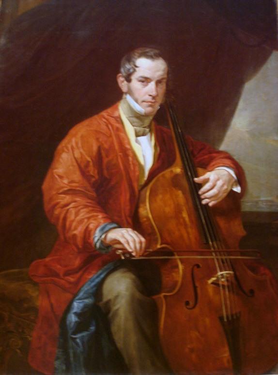 Portrait of a Musician M. Vielgorsky - Karl Bryullov