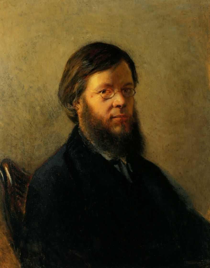 Portrait of A.N.Pypin - Nikolai Ge