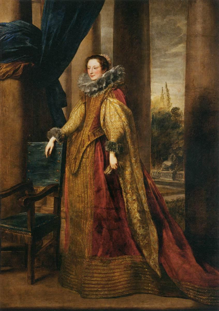 Portrait of a Noble Genoese Lady - Anthony van Dyck