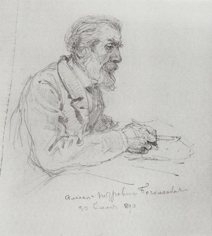 Portrait of A. P. Bogolyubov - Vasily Polenov