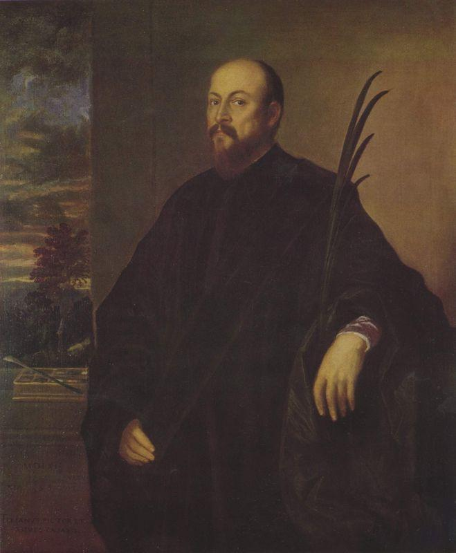 Portrait of a painter with a palm tree - Titian
