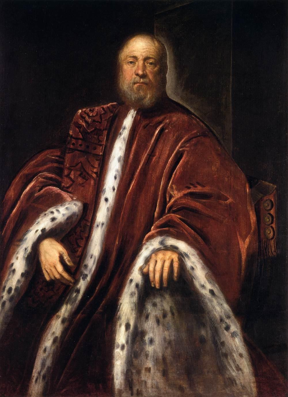 Portrait of a Procurator of St Mark's - Tintoretto