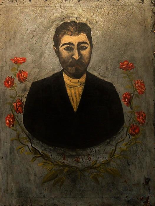Portrait of a railway worker (Misha Meheteli) - Niko Pirosmani