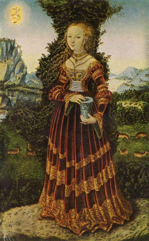 Portrait of a Saxon noblewoman as Mary Magdalene - Lucas Cranach the Elder