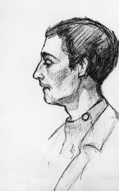 Portrait of a student - Aleksandr Deyneka