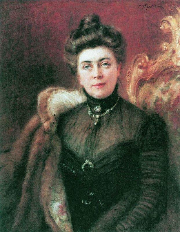 Portrait of A.Suvorina - Konstantin Makovsky