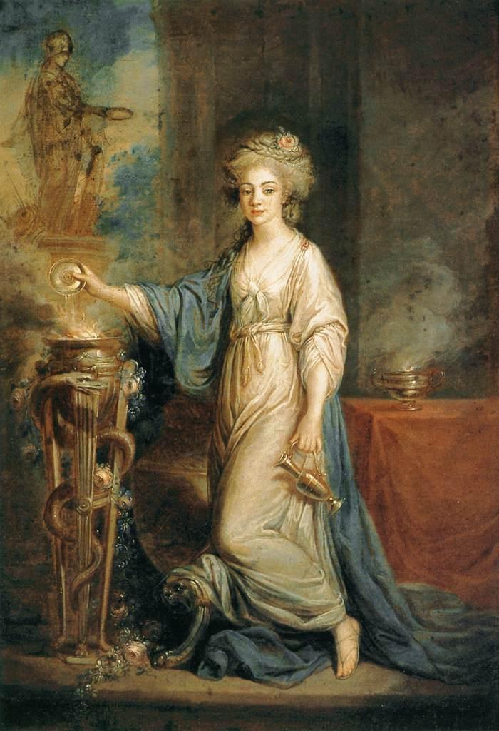 Portrait of a Woman as a Vestal Virgin - Angelica Kauffman