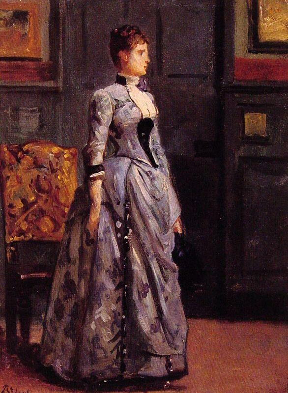Portrait of a Woman in Blue - Alfred Stevens