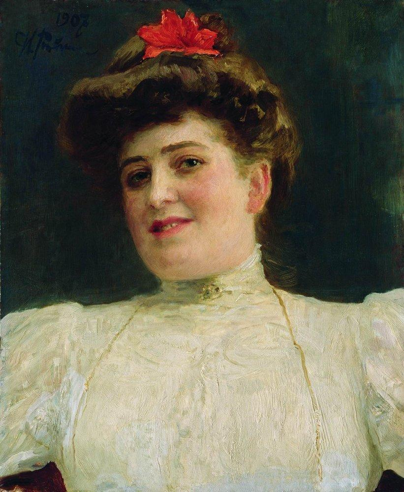 Portrait of a Woman (Olga Shoofs) - Ilya Repin