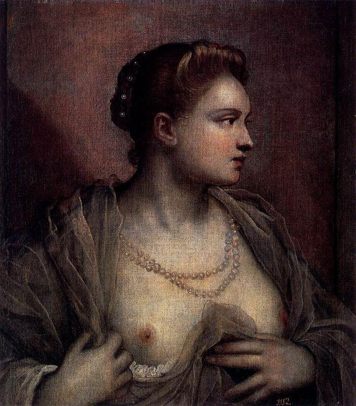 Portrait of a Woman Revealing Her Breasts - Tintoretto