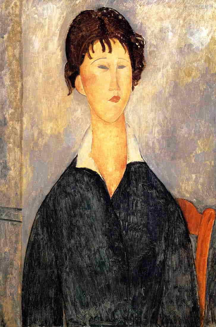 Portrait of a Woman with a White Collar - Amedeo Modigliani