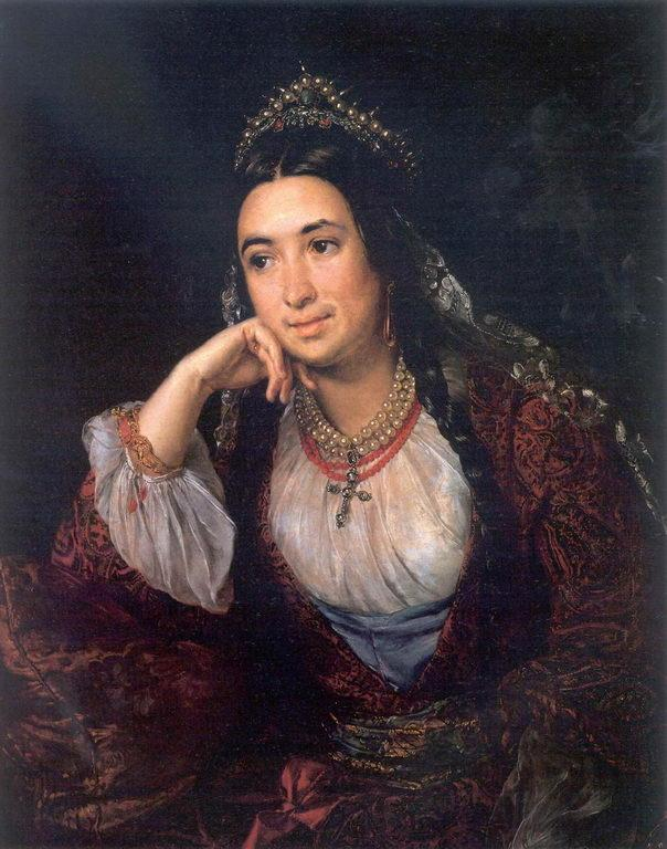 Portrait of a writer V.I.Lizogub - Vasily Tropinin