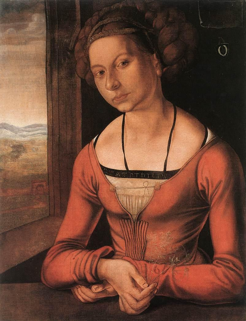 Portrait of a Young F rleger with Her Hair Done Up - Albrecht Durer