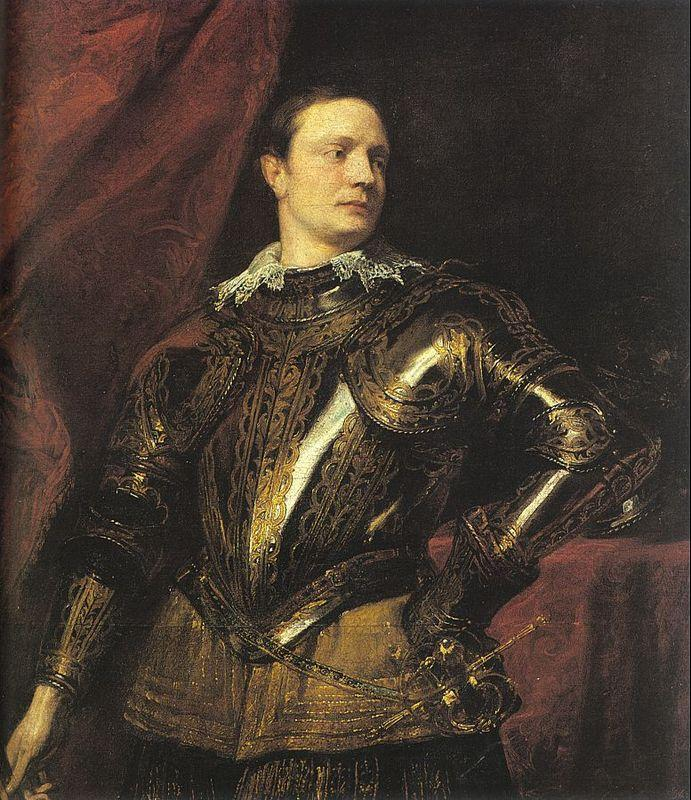 Portrait of a Young General - Anthony van Dyck