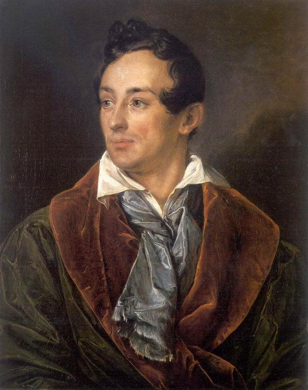 Portrait of a young man in a green robe - Vasily Tropinin
