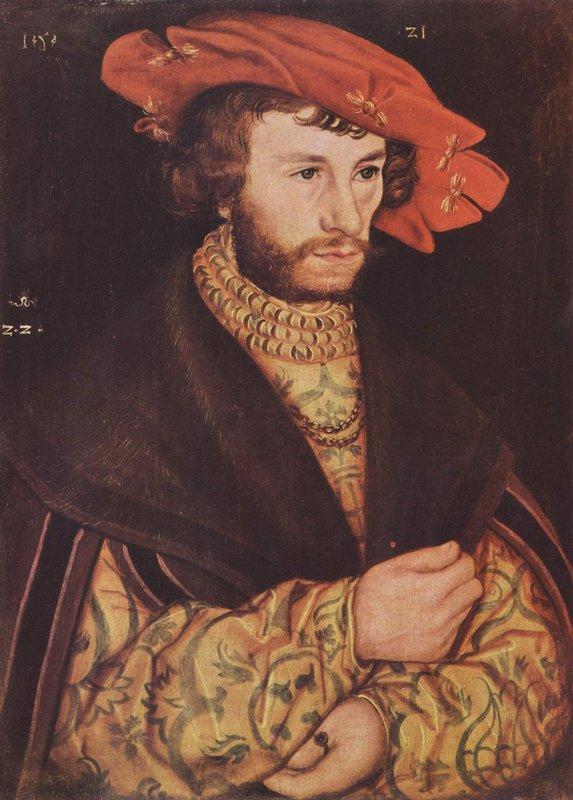 Portrait of a young man in hat - Lucas Cranach the Elder