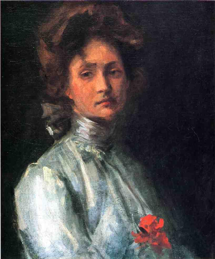 Portrait of a Young Woman - Nikolay Bogdanov-Belsky