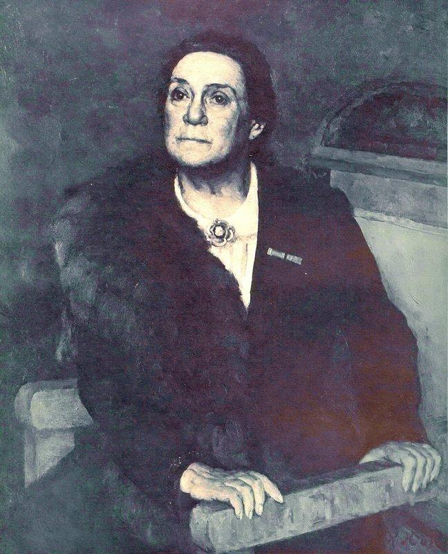 Portrait of actress V.N. Pashenina - Konstantin Yuon