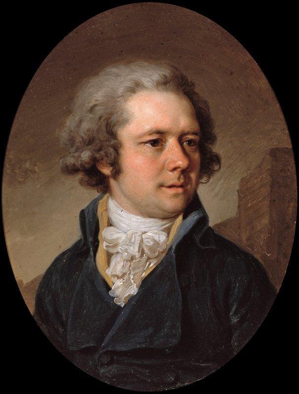 Portrait of Adam Adamovich Menelas - Vladimir Borovikovsky