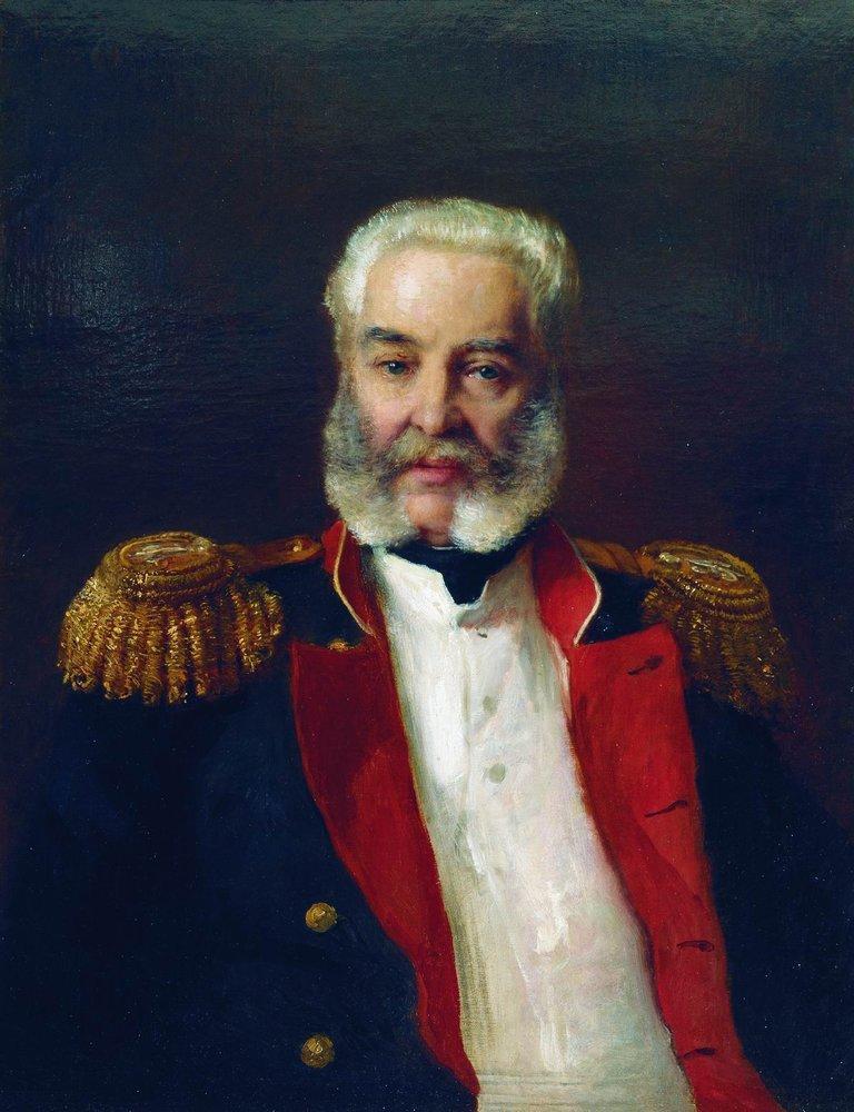 Portrait of Adleberg - Konstantin Makovsky