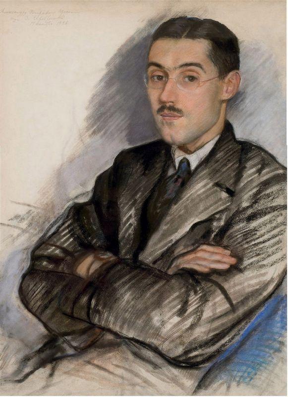 Portrait of Aleksandr Petrovich Prokopenko - Zinaida Serebriakova