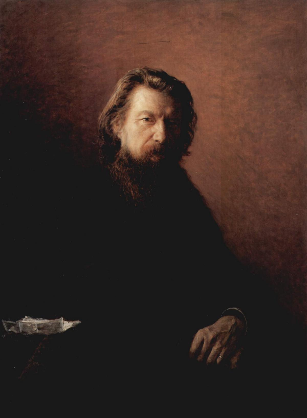 Portrait of Alexei Antipowitsch Potechin - Nikolai Ge