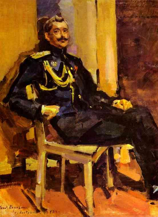 Portrait of an Officer - Konstantin Korovin