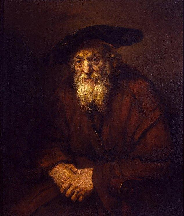 Portrait of an Old Jew - Rembrandt