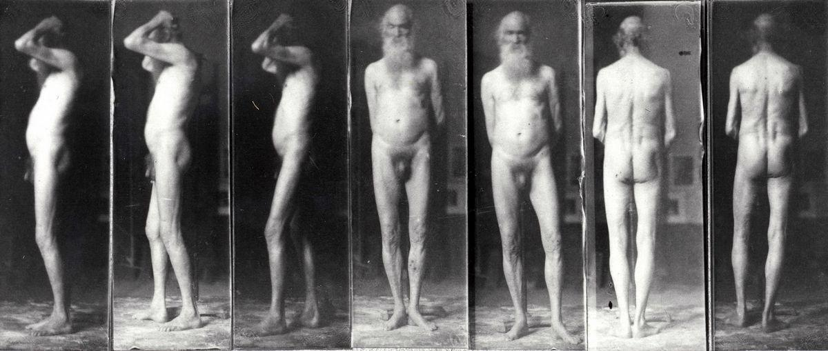 Portrait of an old man in the nude - Thomas Eakins