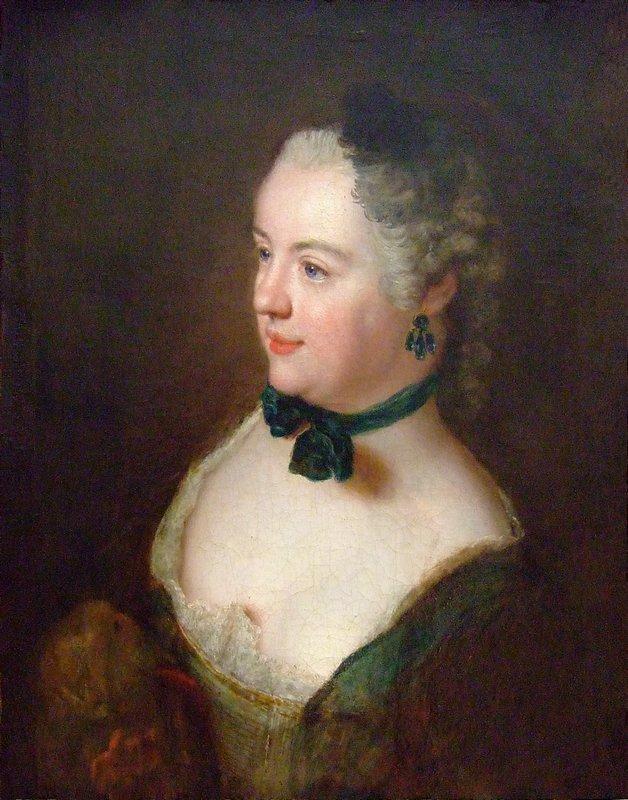 Portrait of an unknown woman - Antoine Pesne