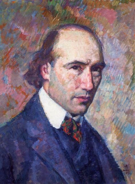 Portrait of Andre Gide - Theo van Rysselberghe