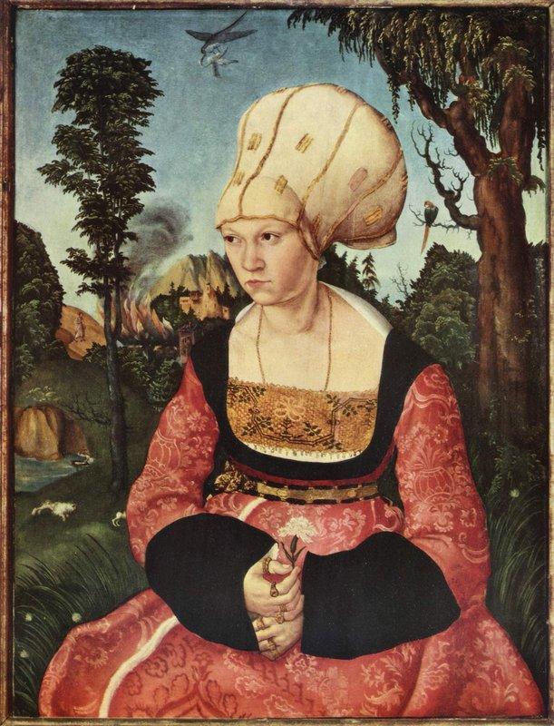 Portrait of Anna Cuspinian - Lucas Cranach the Elder