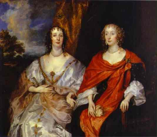 Portrait of Anna Dalkeith, Countess of Morton, and Lady Anna Kirk - Anthony van Dyck