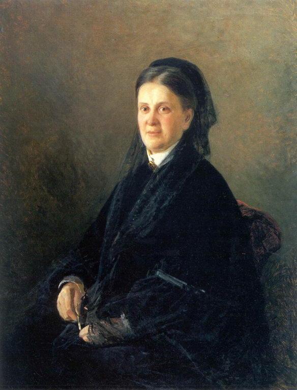 Portrait of Anna Olsufyeva - Nikolai Ge