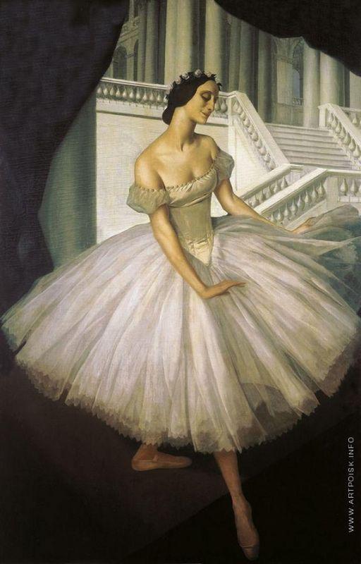 Portrait of Anna Pavlova  - Alexandre Jacovleff