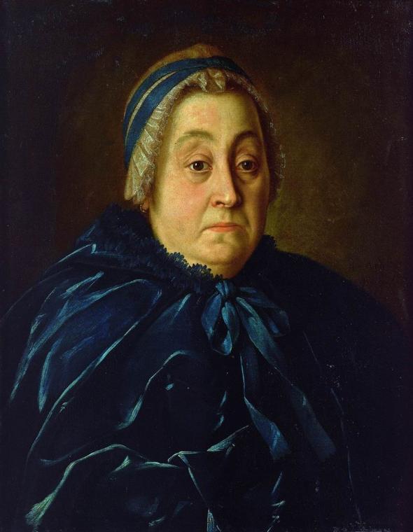 Portrait of Anna Vasiliyevna Buturlina - Aleksey Antropov