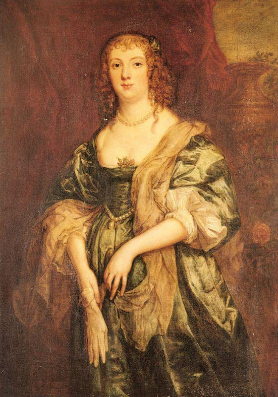 Portrait of Anne Carr, Countess of Bedford - Anthony van Dyck