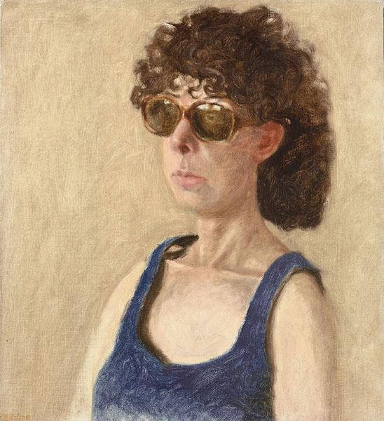 Portrait of Anne in Sunglasses - Avigdor Arikha