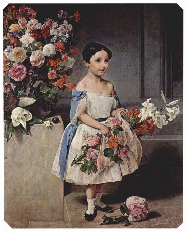 Portrait of Antoniet Negroni Prati Morosini as child - Francesco Hayez