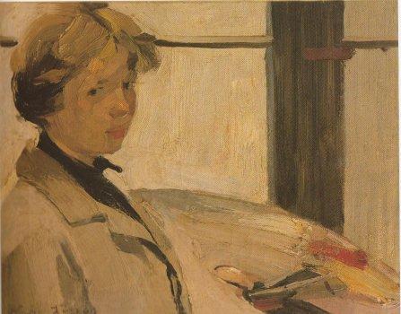 Portrait of painter Maria Hors - Nikolaos Lytras