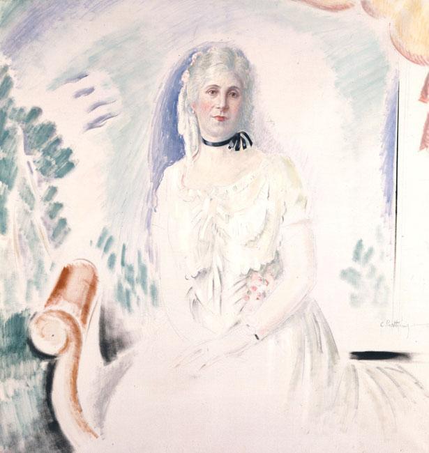 Portrait of Aristovouli Lopresti - Konstantinos Parthenis