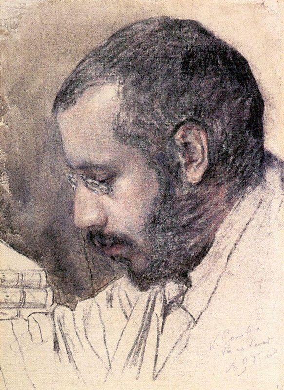 Portrait of Artist A. Benua - Konstantin Somov