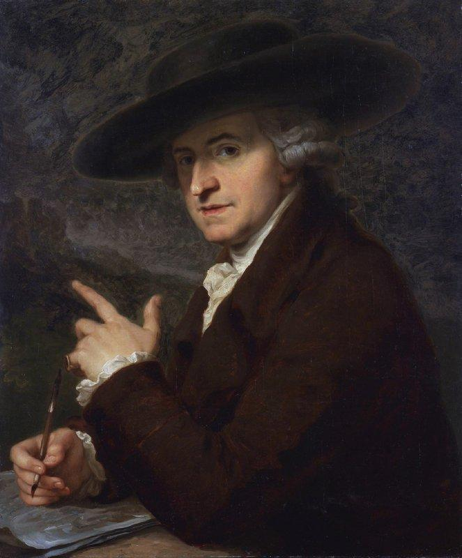 Portrait of artist's husband, the painter Antonio Zucchi - Angelica Kauffman