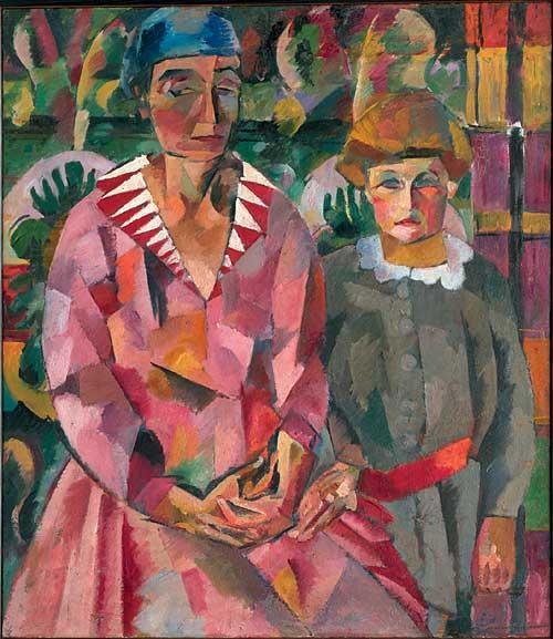 Portrait of Artist's Wife and Daughter - Aristarkh Lentulov