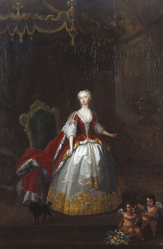 Portrait of Augusta of Saxe Gotha - William Hogarth
